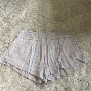 tobi purple and blue flowy shorts high rise